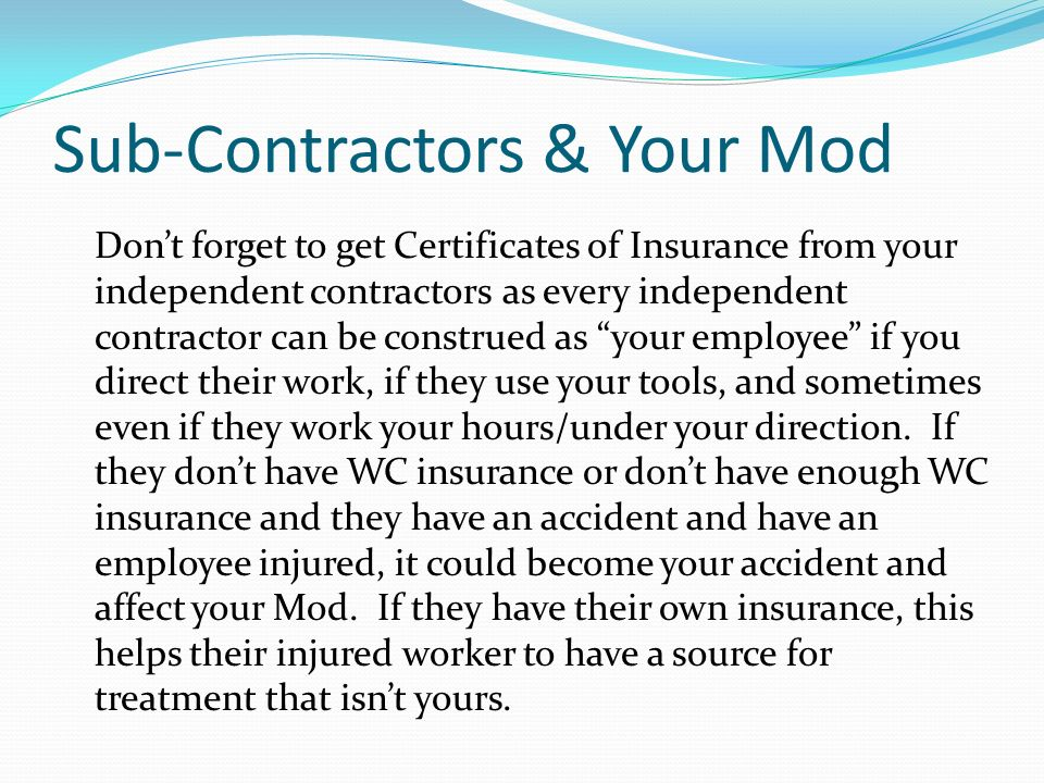 Sub-Contractors & Your Mod