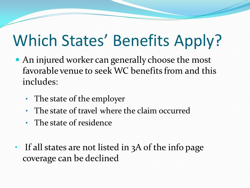 Which States' Benefits Apply