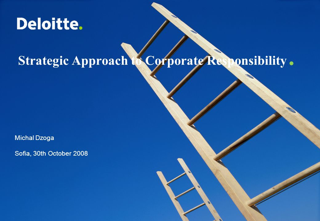 Strategic Approach to Corporate Responsibility.
