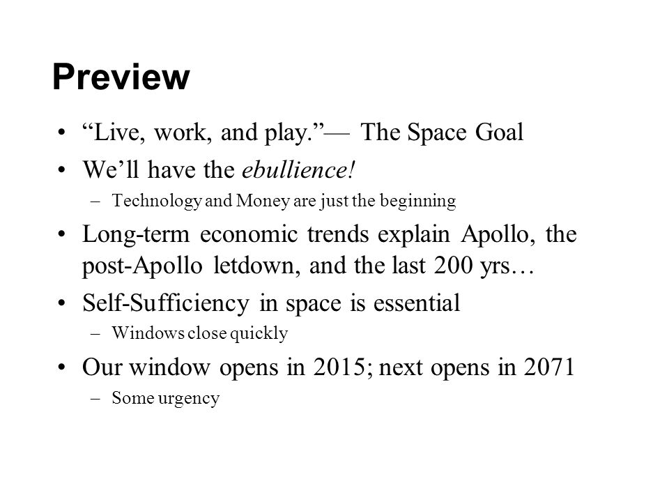 Preview Live, work, and play. — The Space Goal