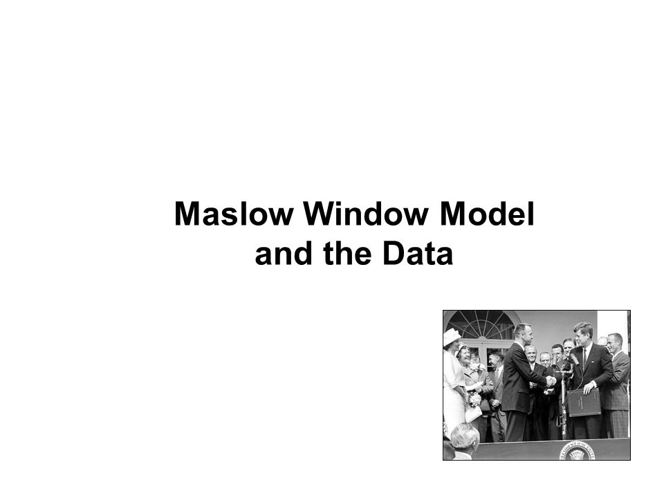 Maslow Window Model and the Data