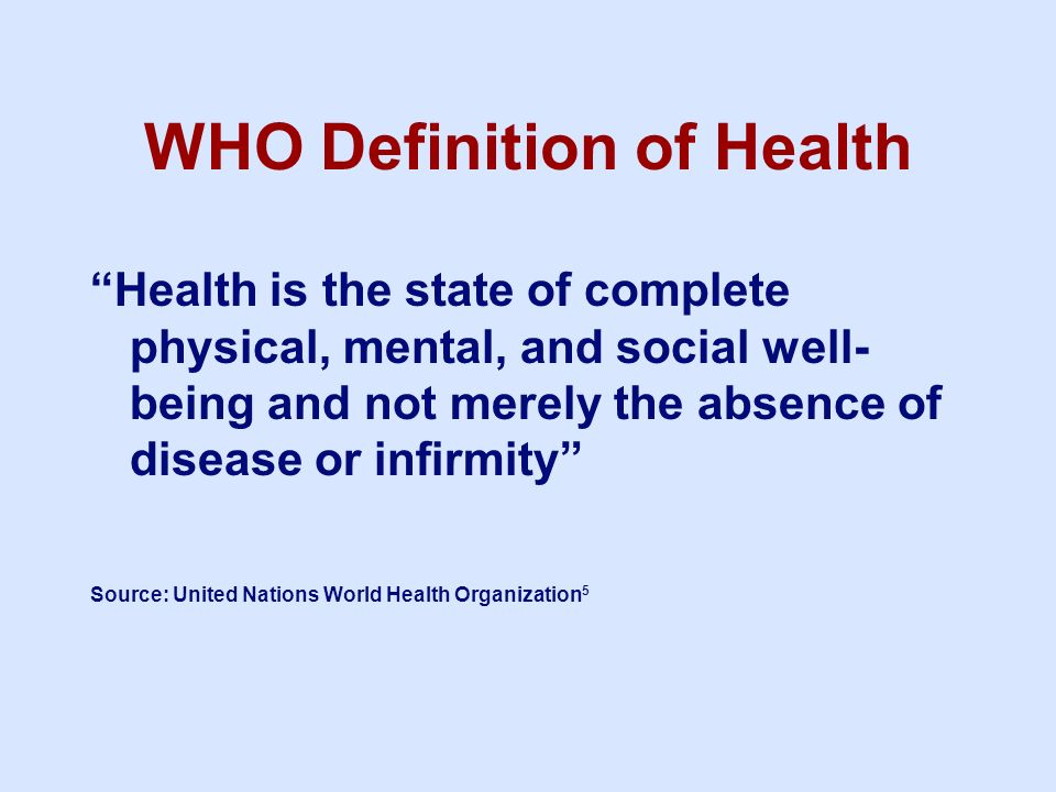 WHO Definition of Health