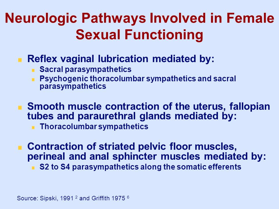 Neurologic Pathways Involved in Female Sexual Functioning