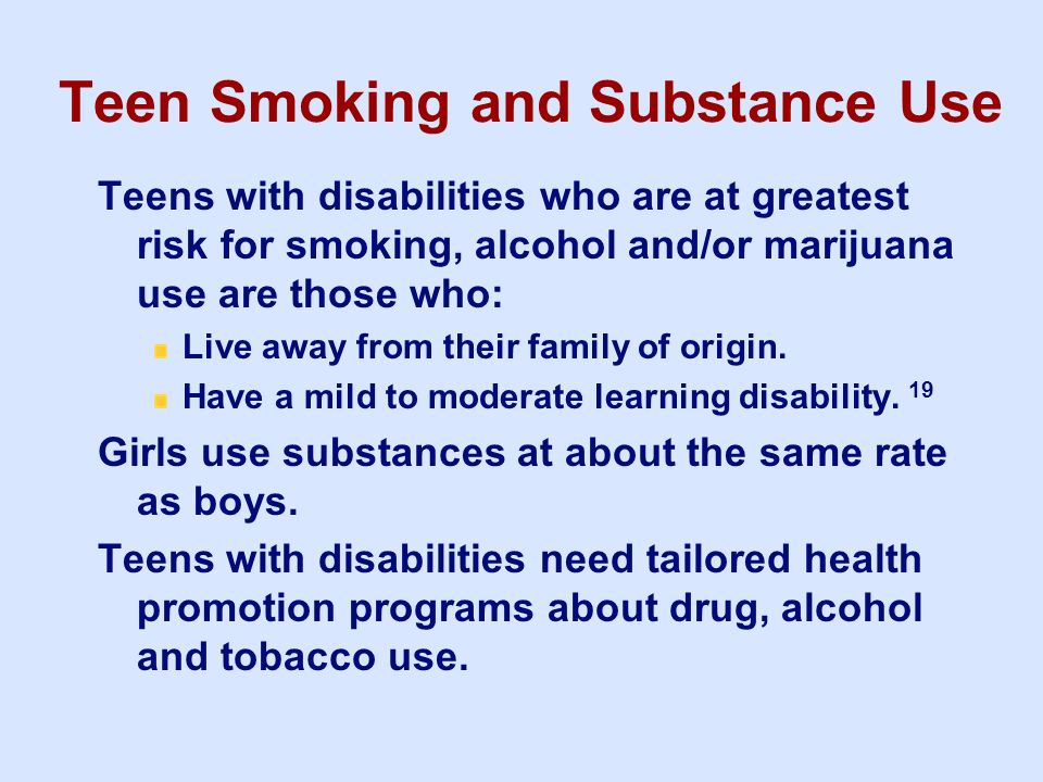 Teen Smoking and Substance Use