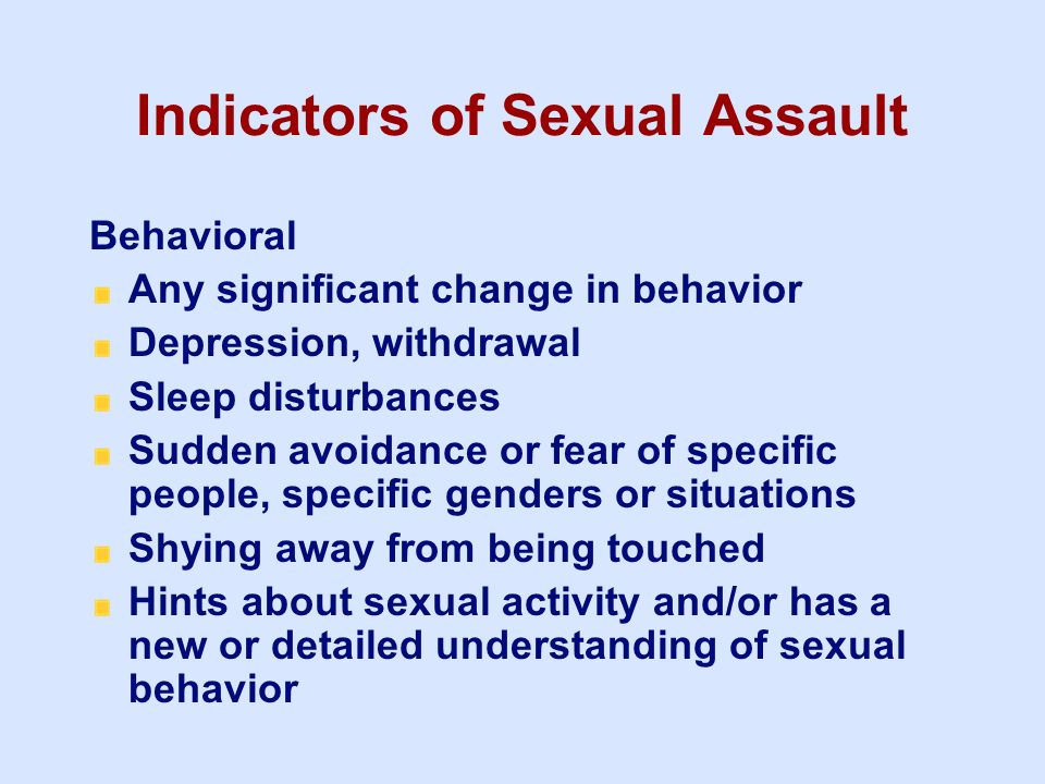Jerk behavior and sexual assault