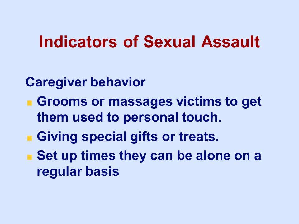 Indicators of Sexual Assault