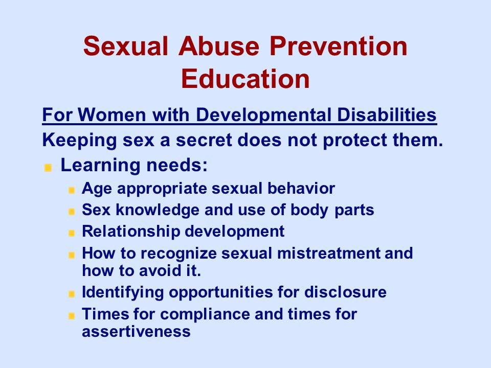 Sexual Abuse Prevention Education