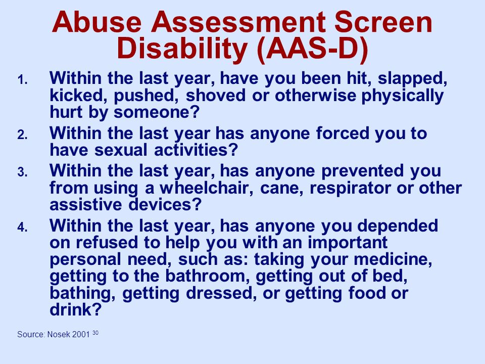 Abuse Assessment Screen Disability (AAS-D)
