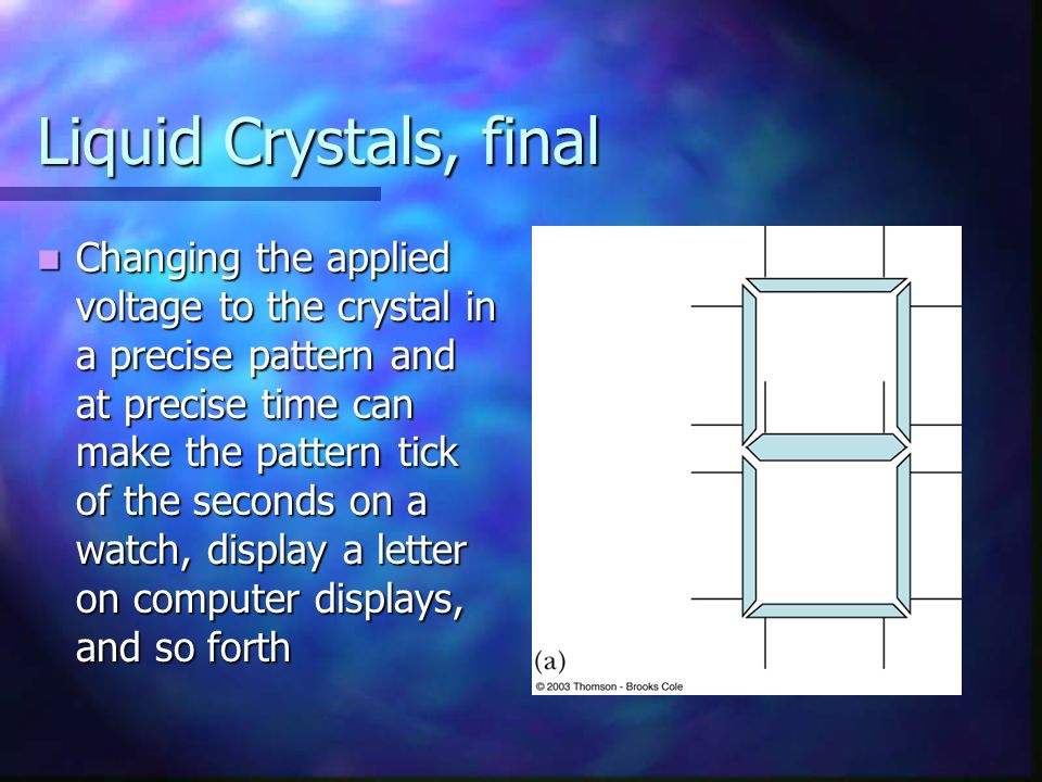 Liquid Crystals, final