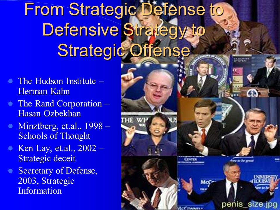From Strategic Defense to Defensive Strategy to Strategic Offense