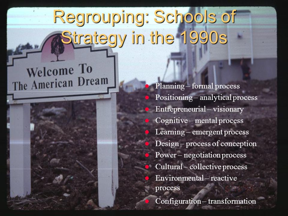 Regrouping: Schools of Strategy in the 1990s