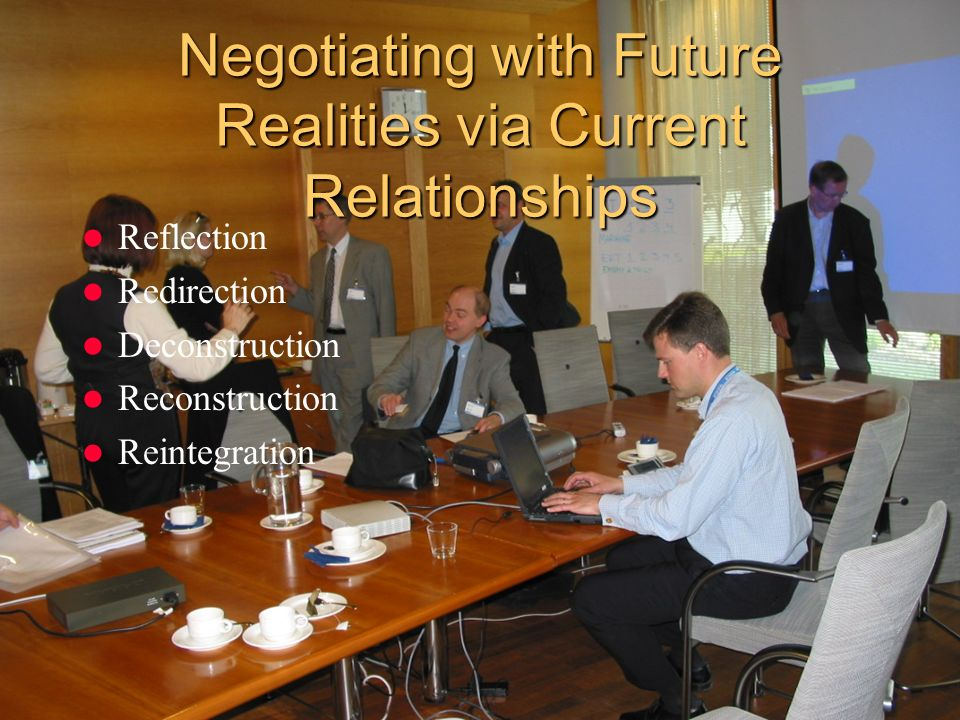 Negotiating with Future Realities via Current Relationships