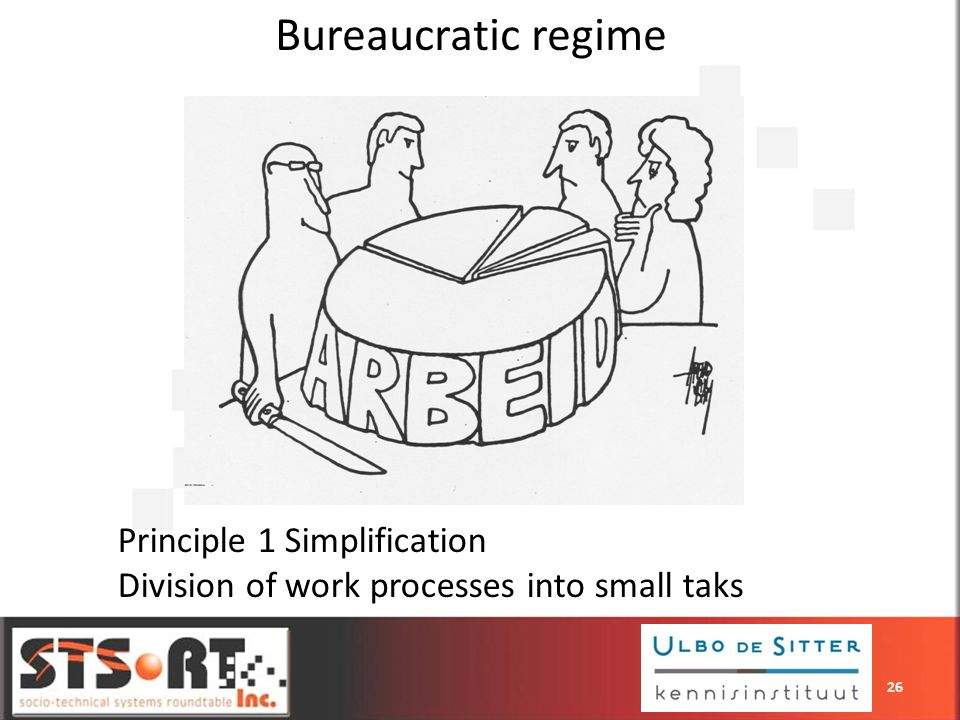 Bureaucratic regime Principle 1 Simplification