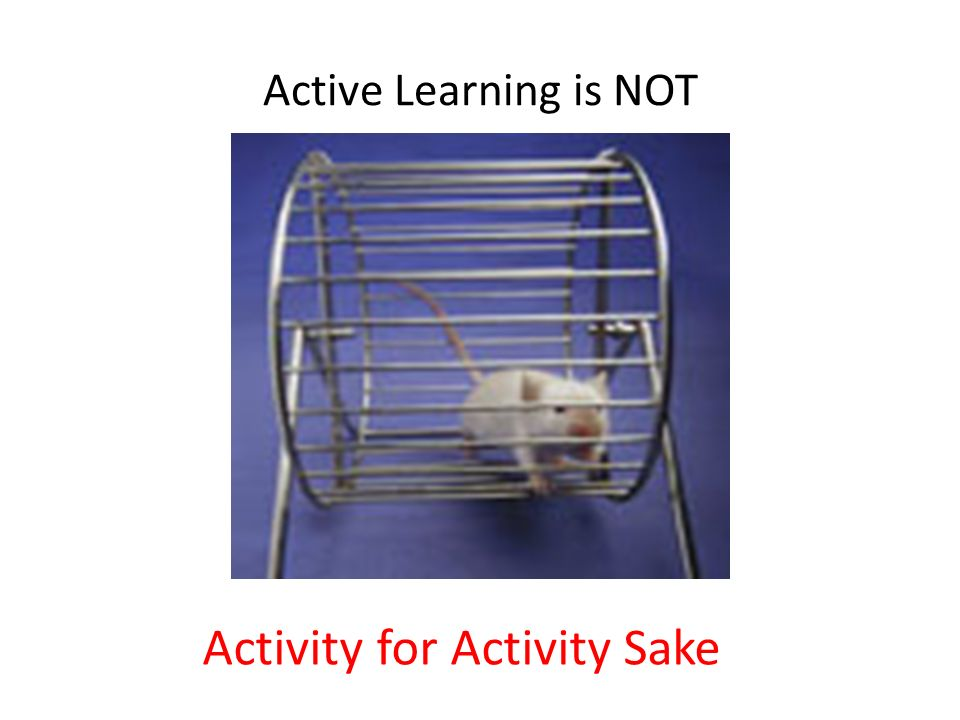 Activity for Activity Sake