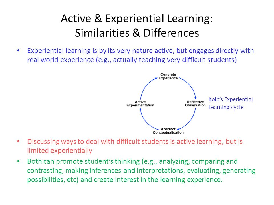 Active & Experiential Learning: Similarities & Differences