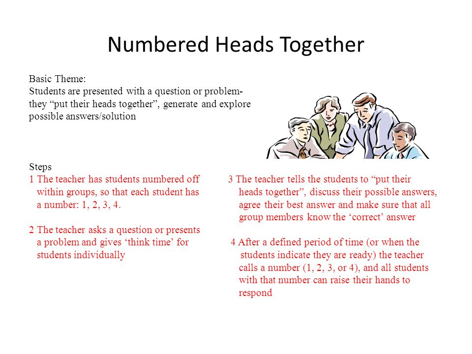 Numbered Heads Together