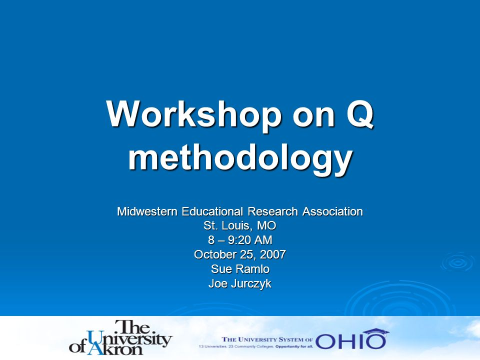 Workshop on Q methodology