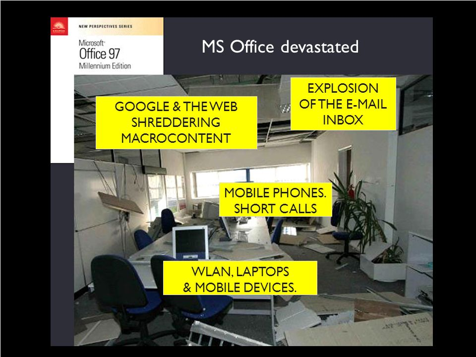 MS Office devastated MICROCONTENT EXPLOSION OF THE E-MAIL INBOX