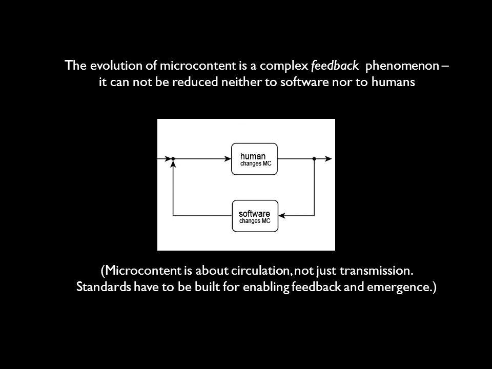 The evolution of microcontent is a complex feedback phenomenon –