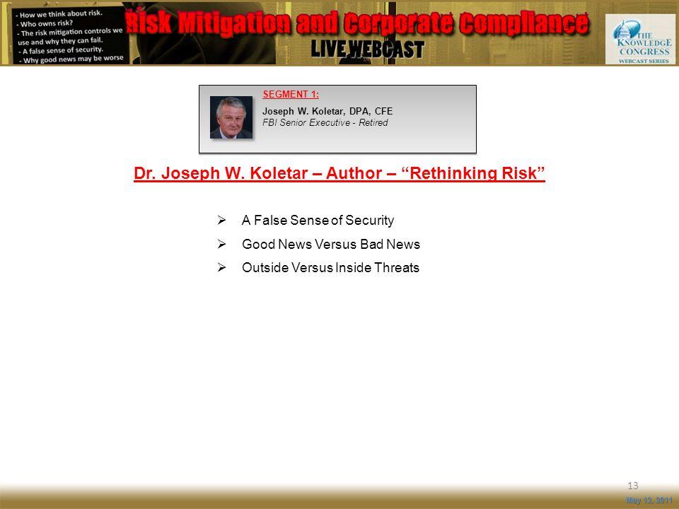 Dr. Joseph W. Koletar – Author – Rethinking Risk