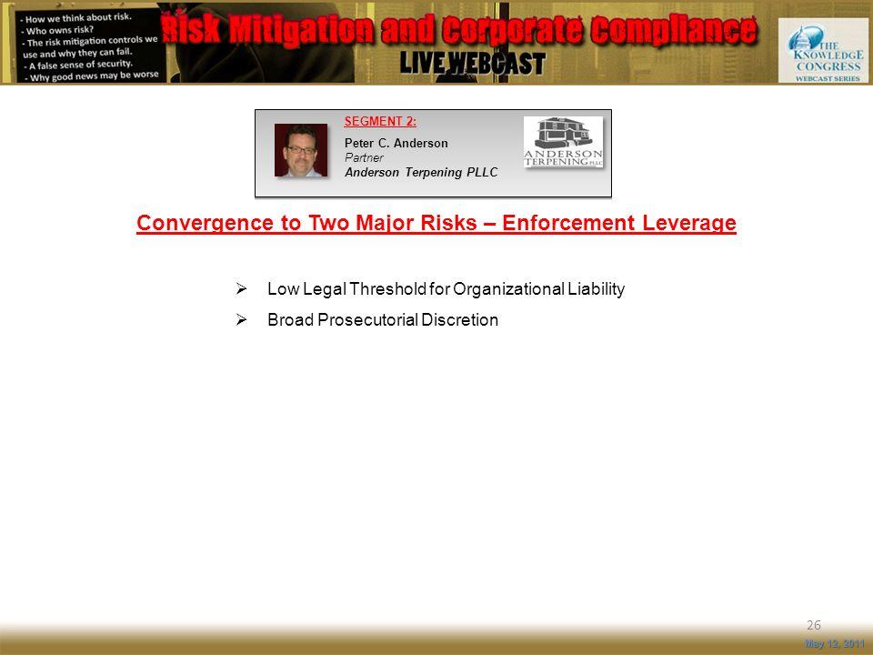 Convergence to Two Major Risks – Enforcement Leverage