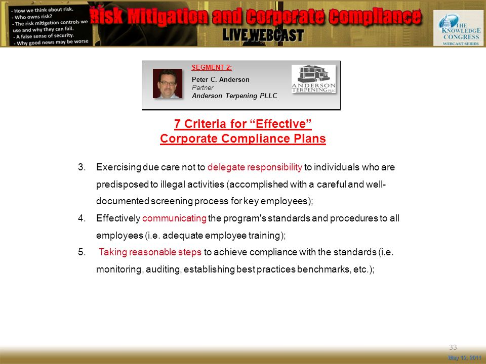 7 Criteria for Effective Corporate Compliance Plans