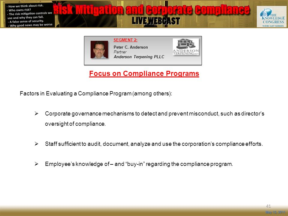 Focus on Compliance Programs