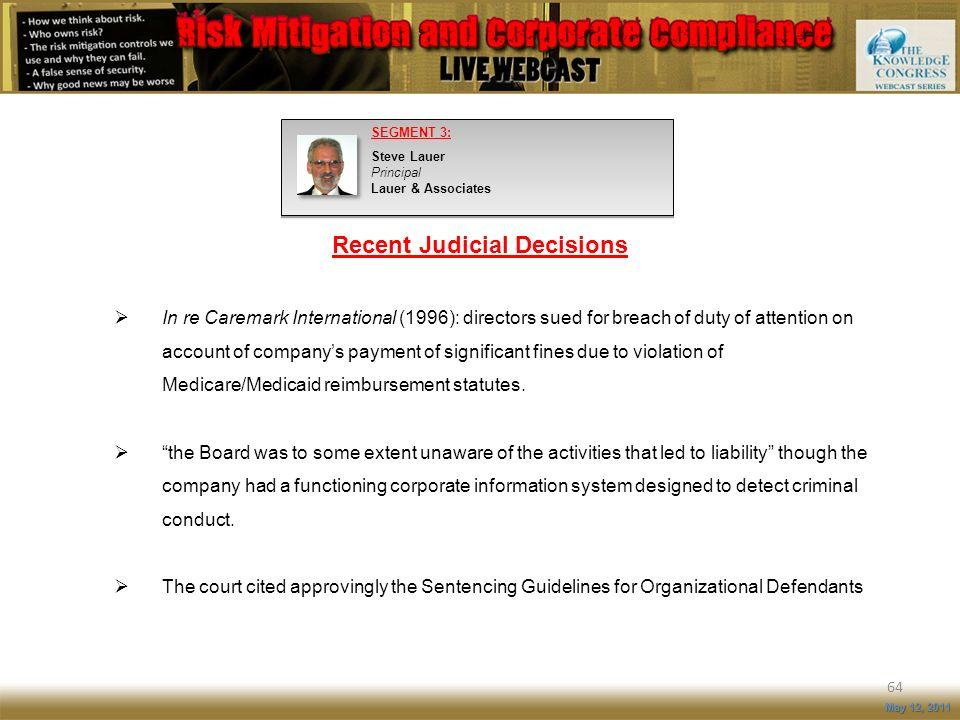 Recent Judicial Decisions
