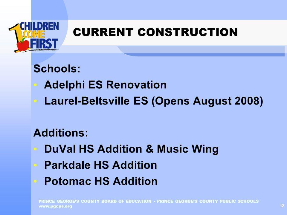 Laurel-Beltsville ES (Opens August 2008) Additions: