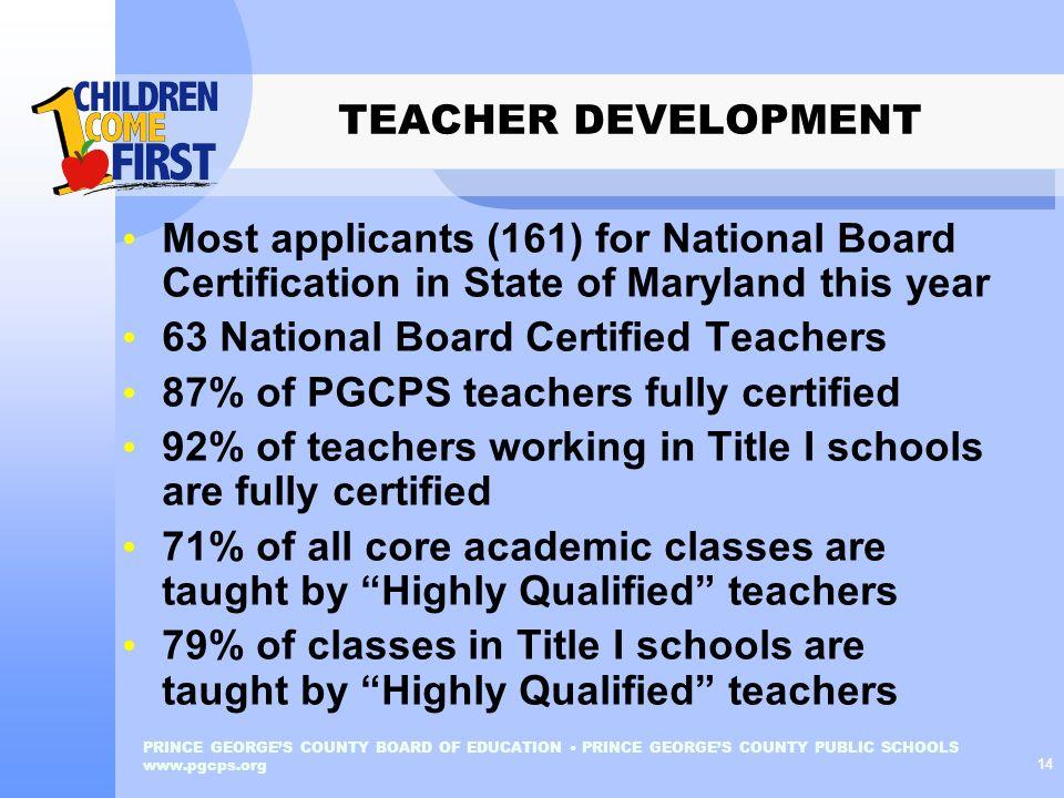 63 National Board Certified Teachers