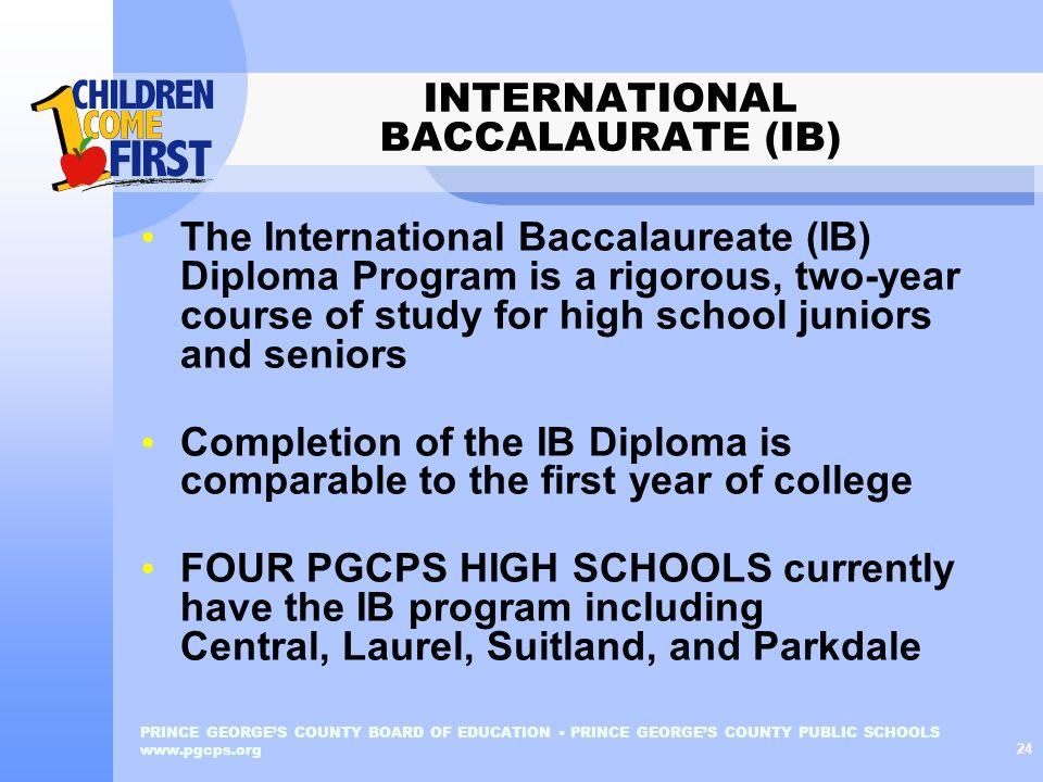 INTERNATIONAL BACCALAURATE (IB)