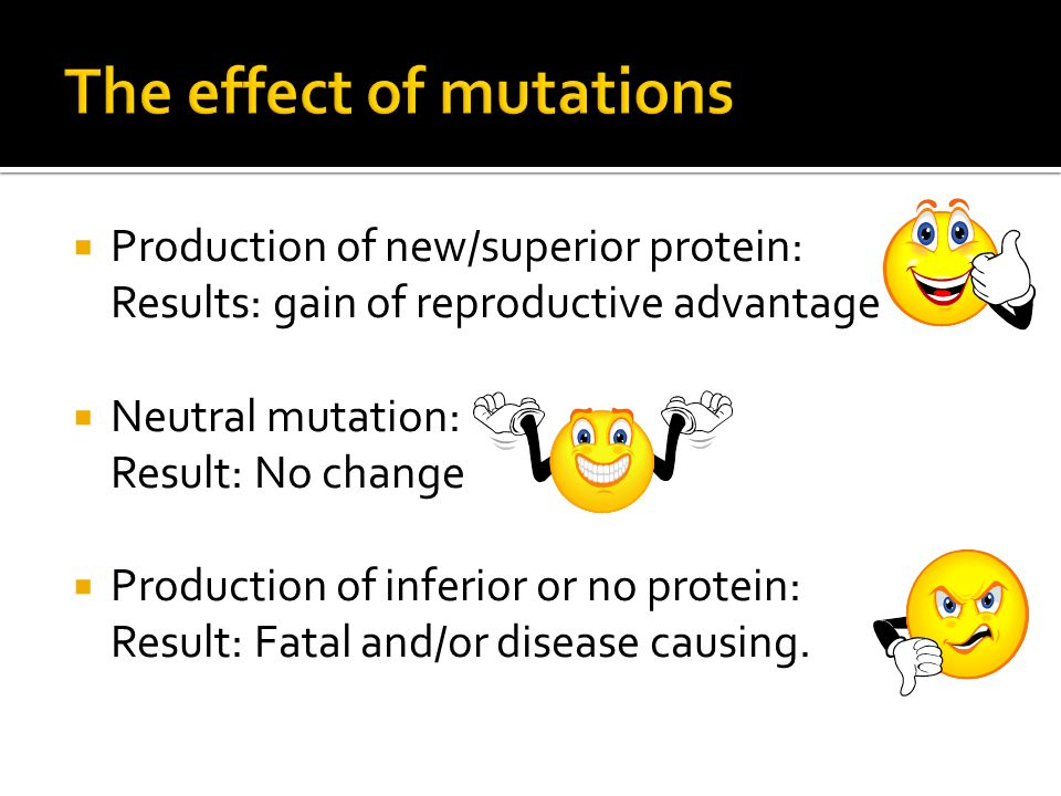 The effect of mutations