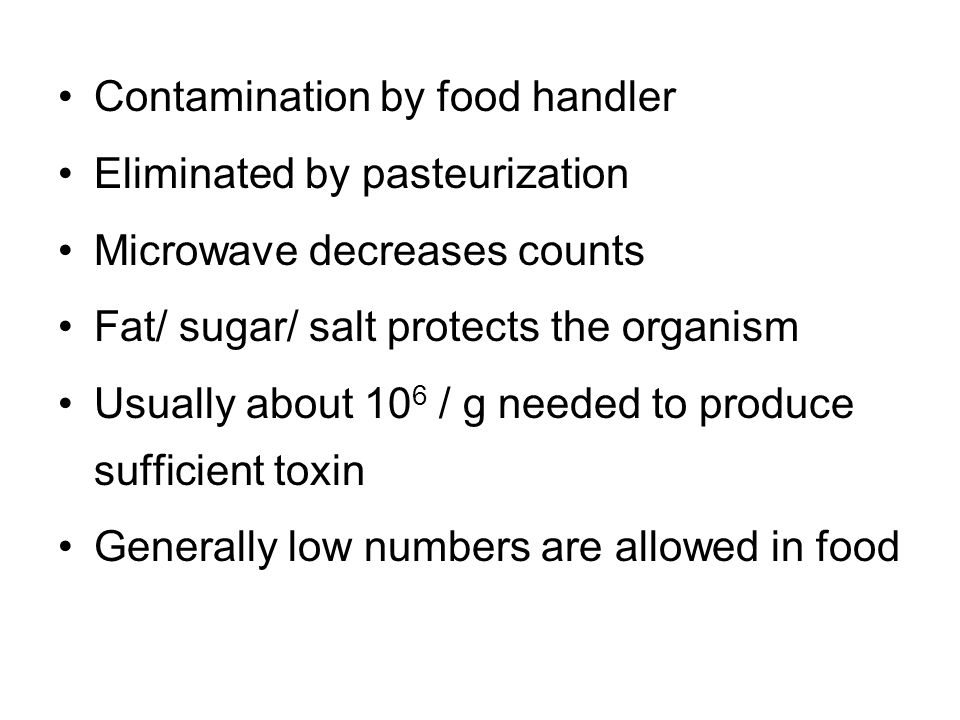 Contamination by food handler