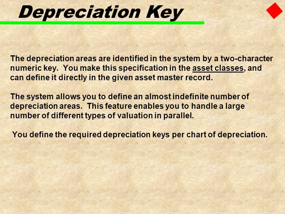 Depreciation Key