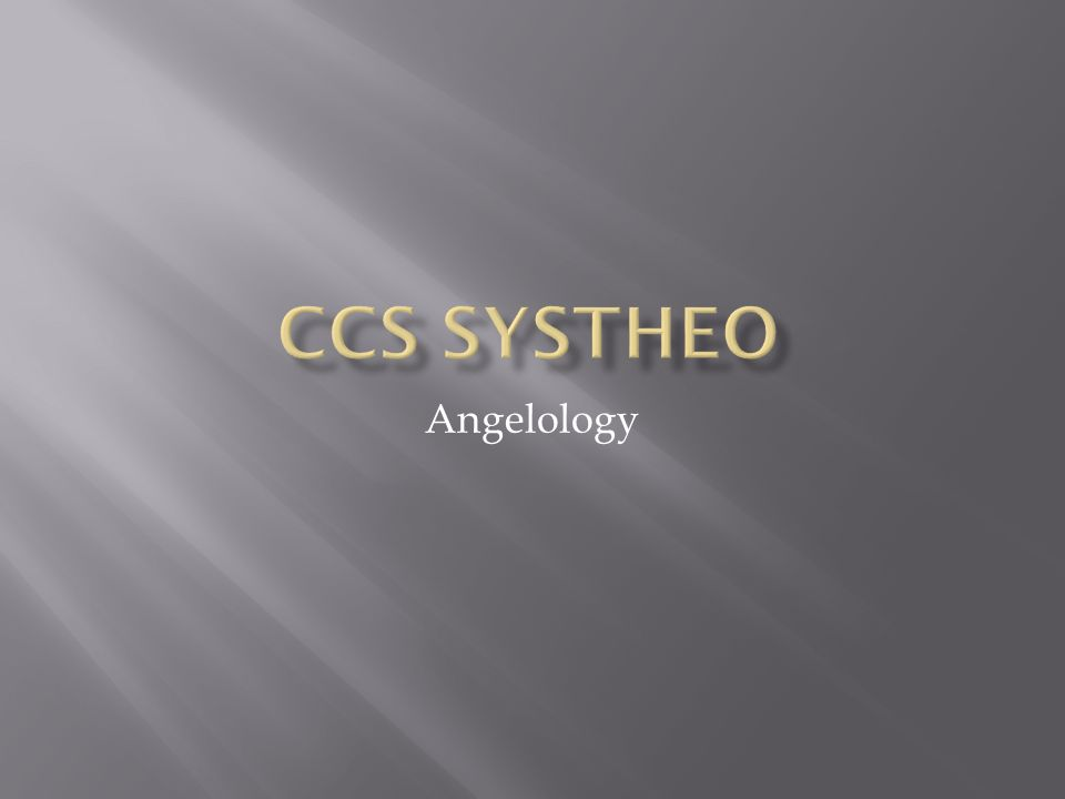 CCS SysTheo Angelology