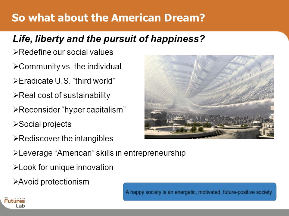 So what about the American Dream