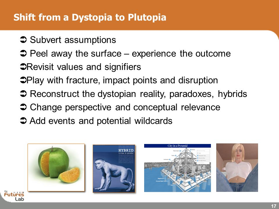 Shift from a Dystopia to Plutopia