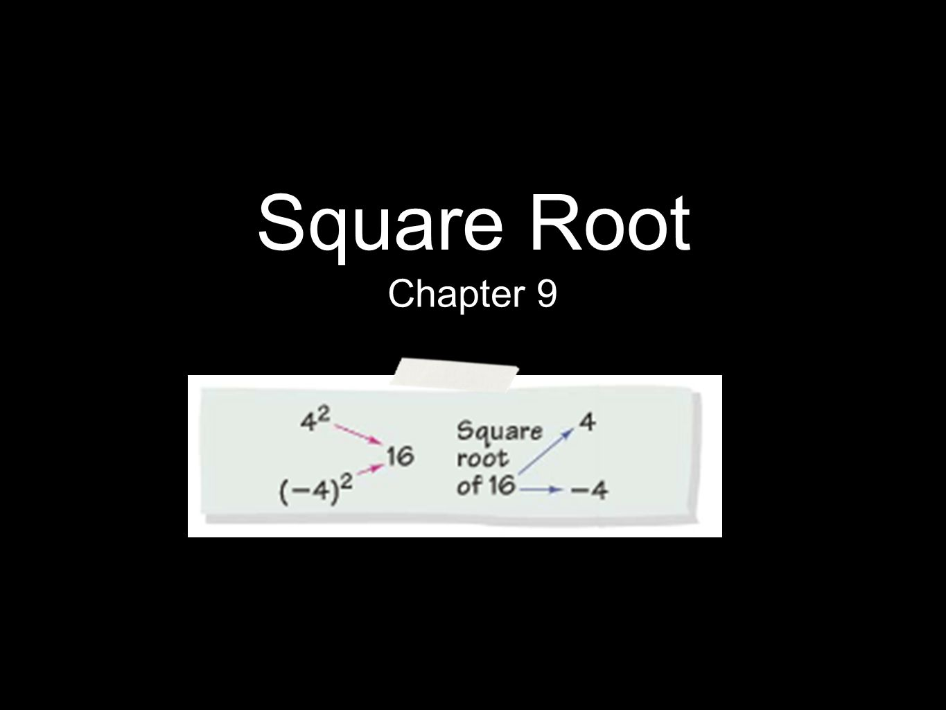 Square Root Chapter 9