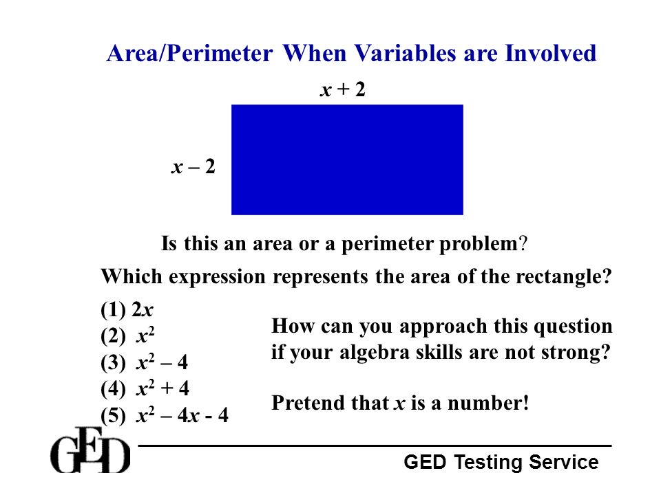 Area/Perimeter When Variables are Involved