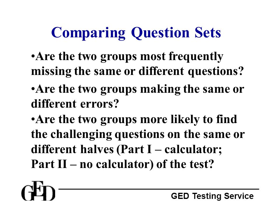 Comparing Question Sets