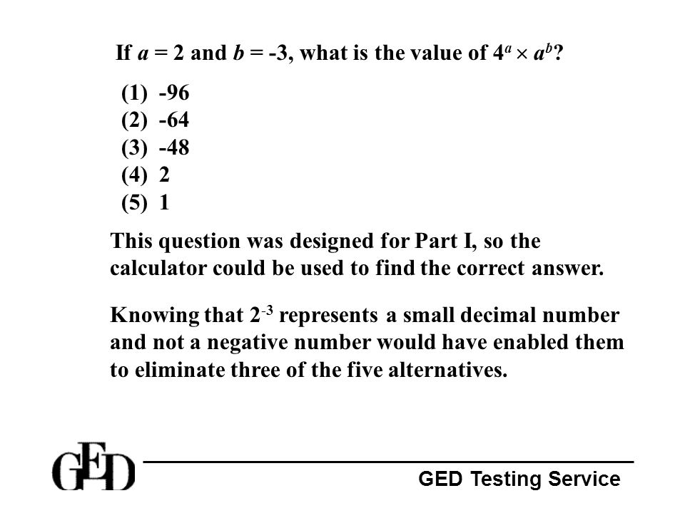 If a = 2 and b = -3, what is the value of 4a  ab