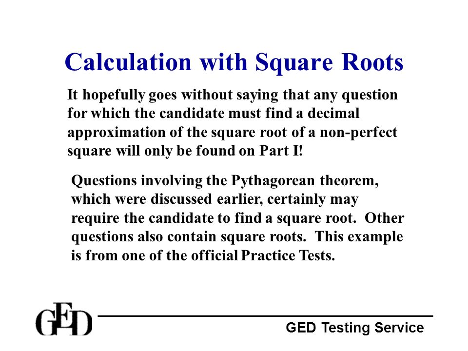 Calculation with Square Roots