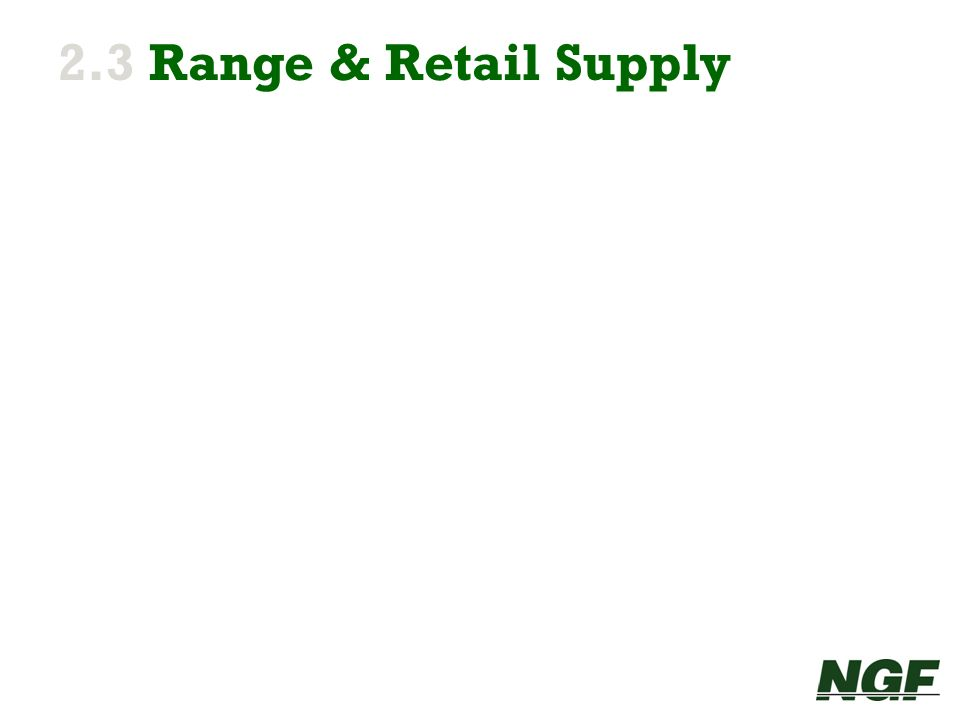 2.3 Range & Retail Supply 15 15