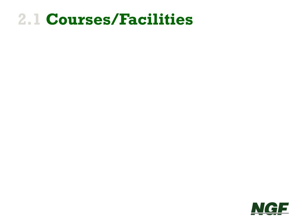 2.1 Courses/Facilities 9 9