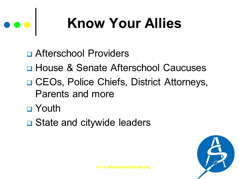 Know Your Allies Afterschool Providers