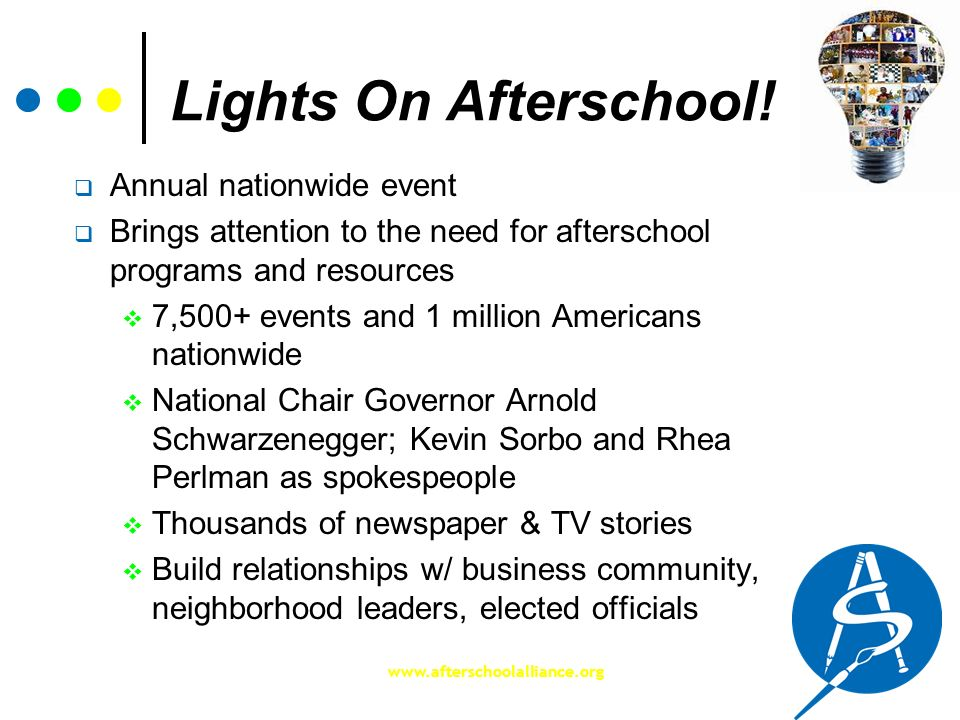Lights On Afterschool! Annual nationwide event