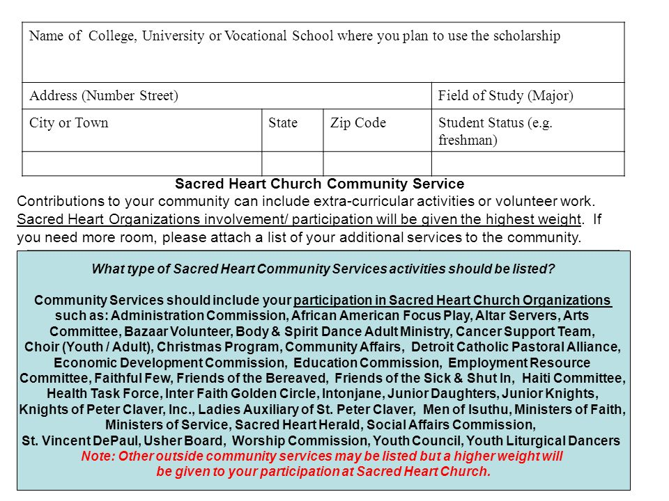 Name of College, University or Vocational School where you plan to use the scholarship