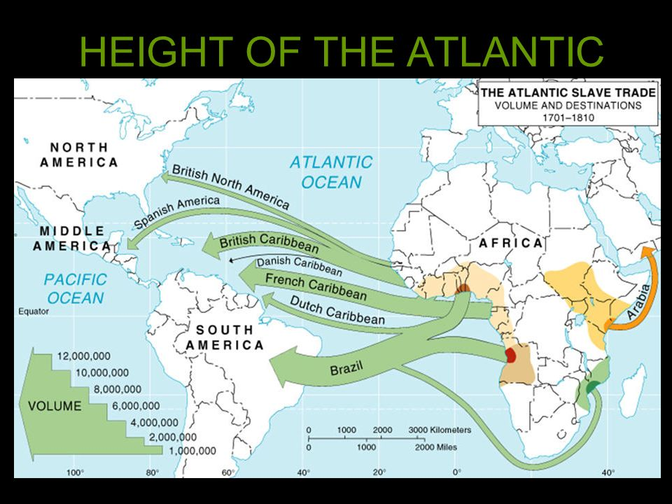 HEIGHT OF THE ATLANTIC SLAVE TRADE