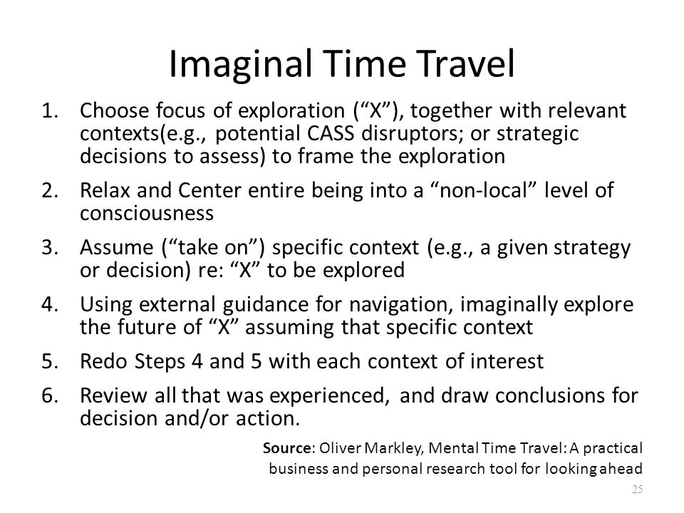 Imaginal Time Travel