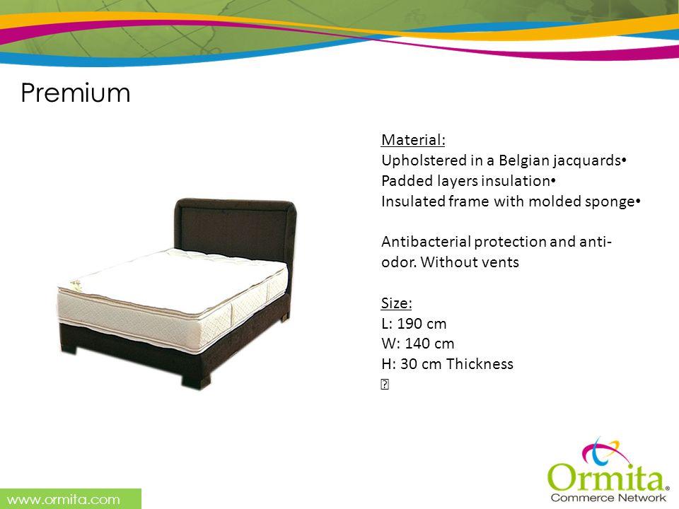 Premium Material: Upholstered in a Belgian jacquards